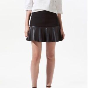 ZARA Leather Skirt S